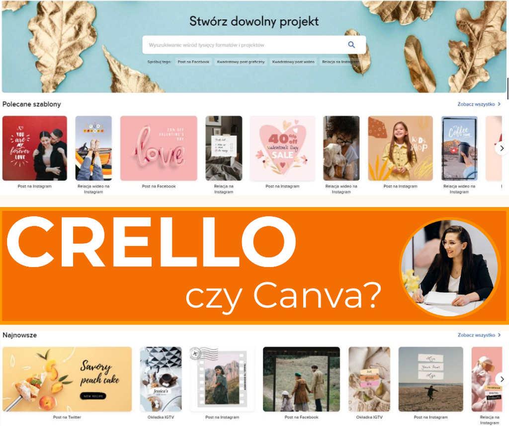 Projektowanie graficzne Crello
