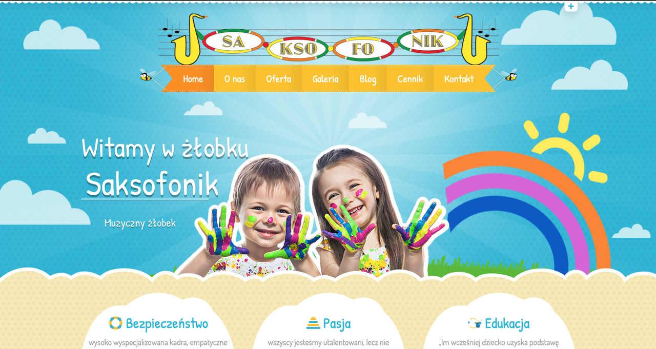 Strona www dla żłobka